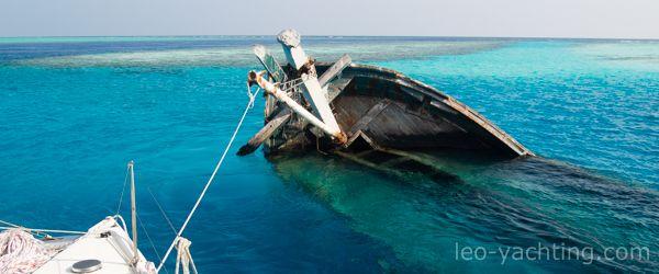 podczas rejsu na malediwach odwiedzisz wiele ciekawych miejsc - snorkowanie na wraku