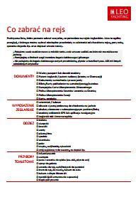 Pobierze pdf z listą rzeczy do zabrania na rejs