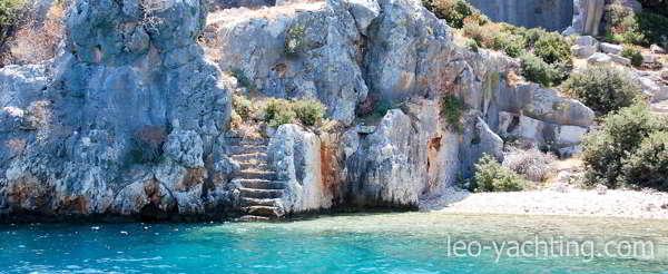 Czarter katamaranu Turcja - Antyczna wyspa Kekovo