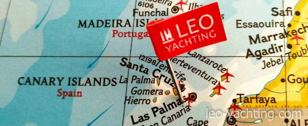 czarter jachtów na wyspach kanaryjskich - mapa