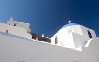 Kościoły na wyspie Ios - Cyklady, Grecja