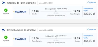 Czarter jachtów Toskania, lot Wrocław - Rzym