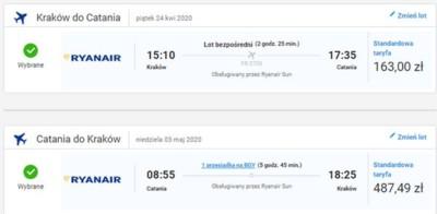 Czarter jachtów włochy - połączenia lotnicze Kraków - Katania