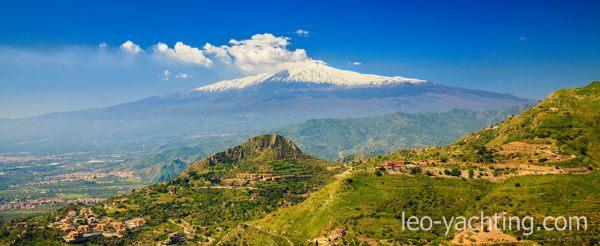 Czarter jachtów Sycylia - wulkan Etna