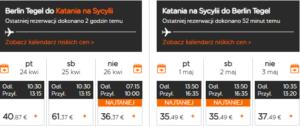 Czarter jachtów Sycylia - lot Berlin - Katania