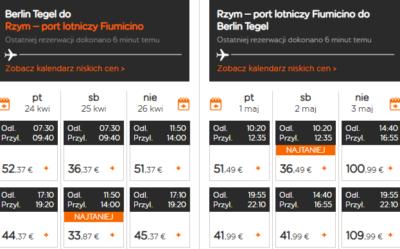 Czarter jachtów Toskania - połączenie lotnicze Berlin - Rzym