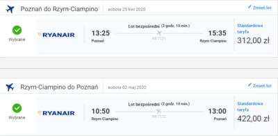 czarter jachtów Toskania - lot Poznań - Rzym
