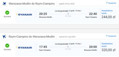 Czarter jachtów Toskania, lot Warszawa - Rzym