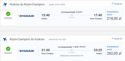 Czarter jachtów Toskania - lot Kraków - Rzym
