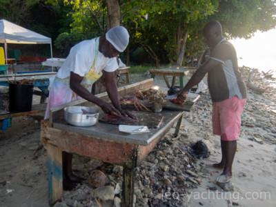 Tobago Cays - Langusty są tak świeże, jak nigdzie