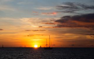 Czarter jachtów Martynika - zachód słońca