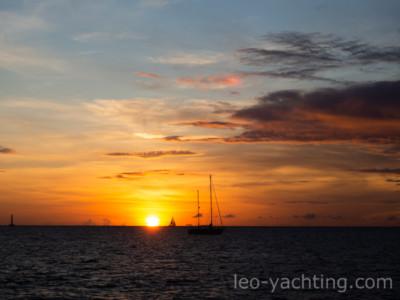 Zachód słońca - Martynika