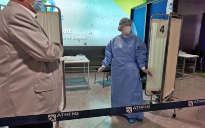 Badanie na lotnisku w Atenach