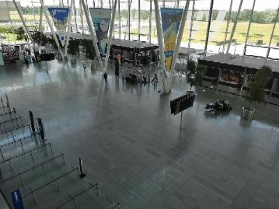 Projekt Grecja pustki na lotnisku