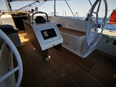 dwa koła sterowe Bavaria Cruiser 46