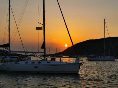 zachód słońca w Grecji
