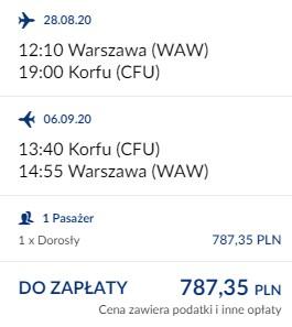 Warszawa - Korfu 28.08-06.09.2020