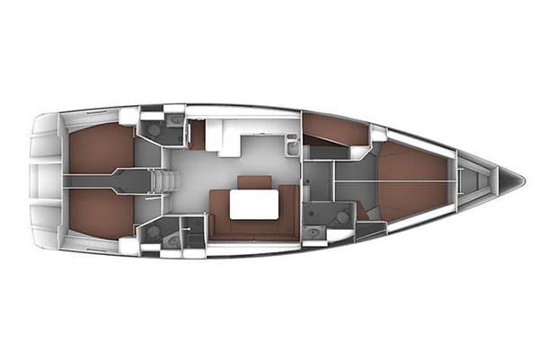 Bavaria Cruiser 51 - rzut
