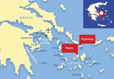 Paros i Mykonos na Cykladach