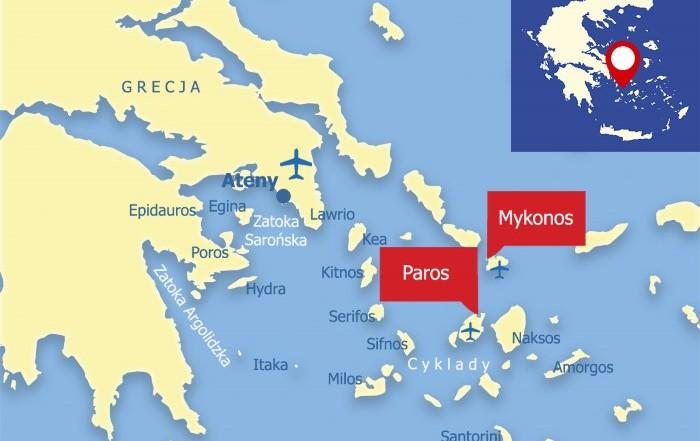 Paros i Mykonos
